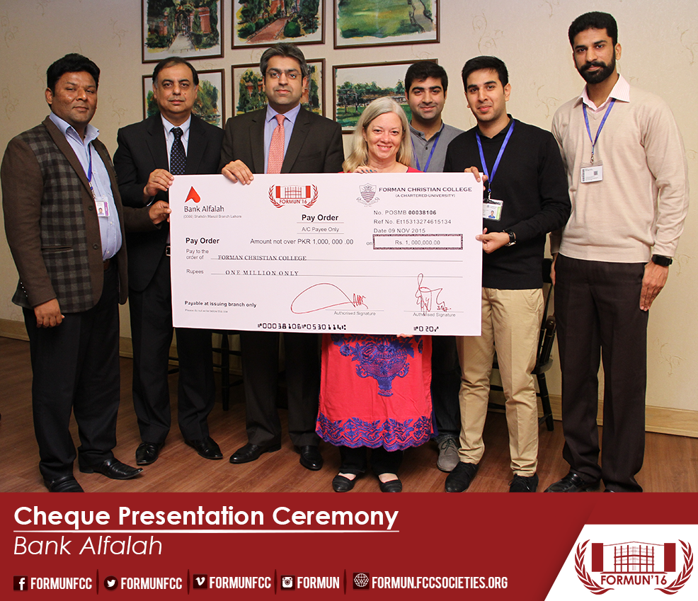 Cheque Presentation Ceremony Bank Alfalah