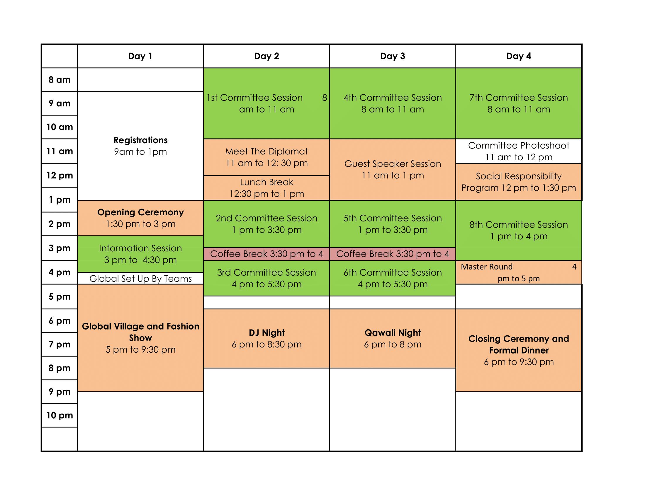 Schedule FORMUN '16